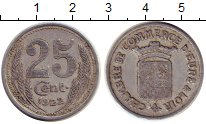 Изображение Монеты Франция 25 сантим 1922 Алюминий XF-