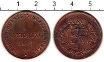 Изображение Монеты Германия Шлезвиг-Гольштейн 1 сешлинг 1851 Медь XF