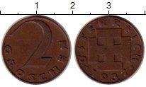 Изображение Монеты Австрия 2 гроша 1937 Бронза XF