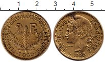 Изображение Монеты Франция 2 франка 1925 Латунь XF-