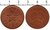 Изображение Монеты Африка Гана 1 песева 1979 Бронза XF