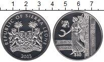 Изображение Монеты Сьерра-Леоне 10 долларов 2003 Серебро Proof