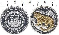 Изображение Монеты Африка Либерия 10 долларов 2005 Серебро Proof