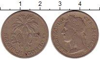 Изображение Монеты Бельгия Бельгийское Конго 50 сантим 1926 Медно-никель VF