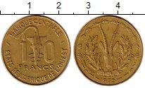 Изображение Монеты Западная Африка 10 франков 1975 Латунь XF