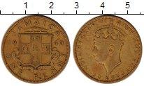 Изображение Монеты Северная Америка Ямайка 1 пенни 1940 Латунь VF