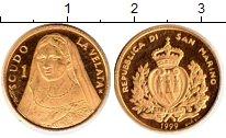 Изображение Монеты Сан-Марино 1 скудо 1999 Золото Proof