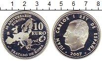 Изображение Монеты Европа Испания 10 евро 2007 Серебро Proof