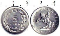 Изображение Монеты Азия Турция 5 лир 1983 Алюминий UNC-