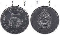 Изображение Мелочь Азия Шри-Ланка 5 рупий 2016 Сталь UNC-