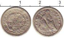 Изображение Монеты Северная Америка США 1/2 дайма 1853 Серебро