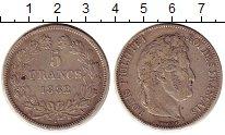 Изображение Монеты Франция 5 франков 1832 Серебро XF-