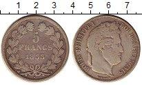 Изображение Монеты Франция 5 франков 1833 Серебро VF