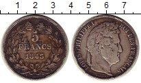 Изображение Монеты Европа Франция 5 франков 1843 Серебро VF