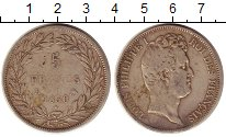 Изображение Монеты Европа Франция 5 франков 1830 Серебро XF-