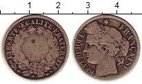 Изображение Монеты Франция 1 франк 1851 Серебро VF A. Республика