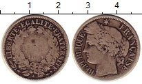 Изображение Монеты Европа Франция 1 франк 1851 Серебро VF