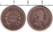 Изображение Монеты Франция 1/2 франка 1808 Серебро XF-