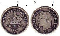 Изображение Монеты Франция 20 сантим 1867 Серебро XF-