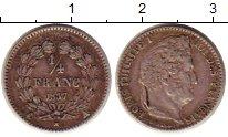 Изображение Монеты Франция 1/4 франка 1837 Серебро XF