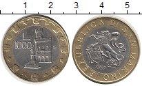 Изображение Монеты Европа Сан-Марино 1000 лир 1997 Биметалл UNC-