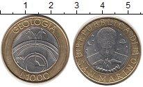 Изображение Монеты Европа Сан-Марино 1000 лир 1998 Биметалл UNC-