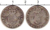 Изображение Монеты Дания 2 скиллинга 1779 Серебро VF