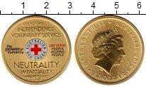 Изображение Монеты Австралия 1 доллар 2014 Латунь UNC Красный крест