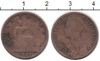 Изображение Монеты Европа Великобритания 1 фартинг 1861 Медь VF