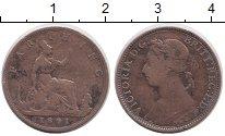 Изображение Монеты Европа Великобритания 1 фартинг 1891 Медь VF