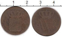 Изображение Монеты Нидерланды 1 цент 1839 Медь VF