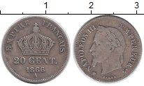 Изображение Монеты Франция 20 сантим 1866 Серебро XF