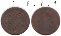 Изображение Монеты Германия Бавария 2 пфеннига 1790 Медь VF