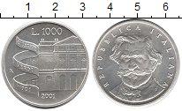 Изображение Монеты Италия 1000 лир 2001 Серебро UNC