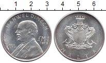 Изображение Монеты Мальта 1 лира 1972 Серебро UNC-