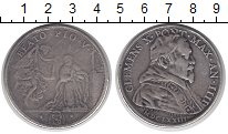 Изображение Монеты Ватикан 1 скудо 1673 Серебро VF