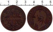 Изображение Монеты Италия 10 чентезимо 1866 Медь VF