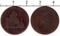 Изображение Монеты Бельгия 2 сантима 1859 Медь VF Леопольд