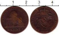 Изображение Монеты Бельгия 2 сантима 1858 Медь VF