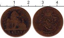 Изображение Монеты Европа Бельгия 2 сантима 1863 Медь VF