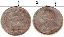 Изображение Монеты Африка ЮАР 3 пенса 1893 Серебро VF