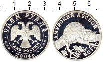 Изображение Монеты СНГ Россия 1 рубль 2004 Серебро Proof