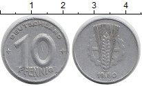 Изображение Монеты Германия ГДР 10 пфеннигов 1950 Алюминий XF