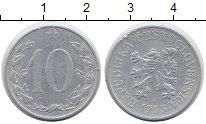 Изображение Монеты Чехия Чехословакия 10 хеллеров 1953 Алюминий XF