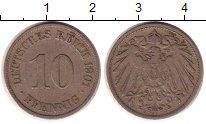 Изображение Монеты Германия 10 пфеннигов 1901 Медно-никель XF-