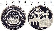 Изображение Монеты Либерия 20 долларов 2000 Серебро Proof-