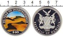 Изображение Монеты Намибия 10 долларов 1995 Серебро Proof