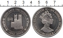 Изображение Монеты Остров Вознесения 50 пенсов 2002 Медно-никель UNC-