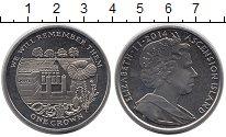 Изображение Монеты Великобритания Остров Вознесения 1 крона 2014 Медно-никель UNC-