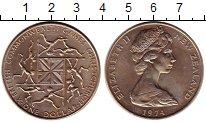 Изображение Монеты Австралия и Океания Новая Зеландия 1 доллар 1974 Медно-никель UNC-